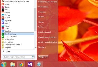 Recupera el menú de inicio en Windows 8 con Start8