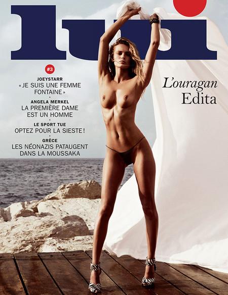 Edita Vilkeviciute topless Lui portada