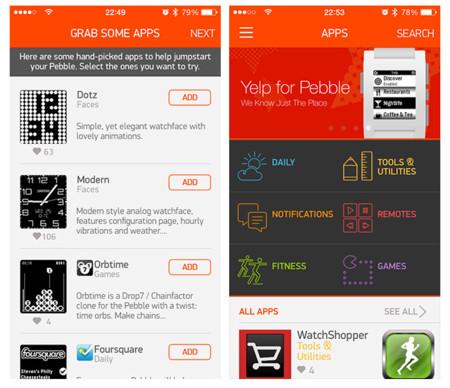 Análisis Pebble appstore recomendaciones