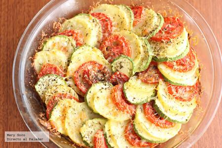 Espiral de verduras gratinadas. Receta fácil y rápida