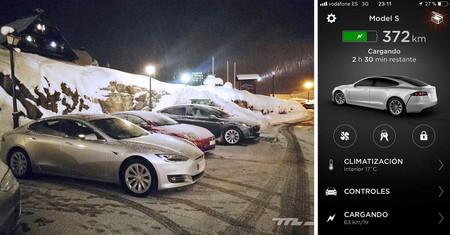 Tesla Model S 100D supercargador