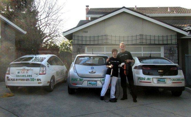 Familia Kramer con Prius PHEV, Leaf y Volt