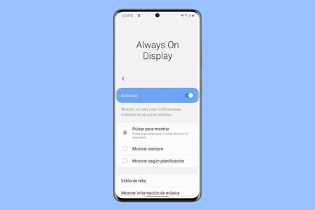 Cómo configurar Always On Display al máximo y sin instalar nada en un móvil Samsung
