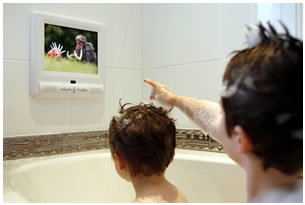 Televisor a prueba de agua para la bañera