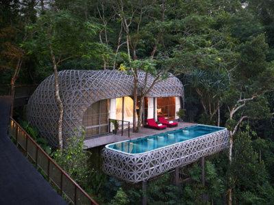 Un delicioso hotel en los bosques de Tailandia
