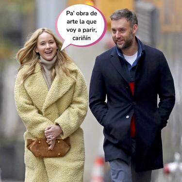 Jennifer Lawrence, embarazada de su primer hijo con el galerista de arte Cooke Maroney: que comiencen los antojos del hambre