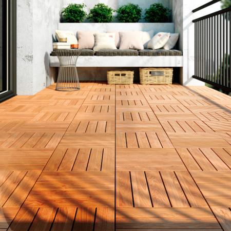 Texturas en el suelo un plan para modernizar la terraza for Baldosas para terraza baratas