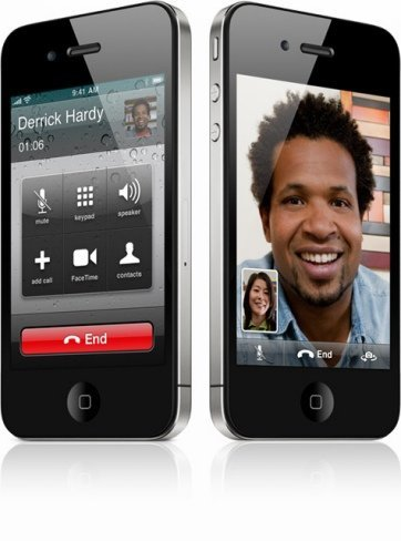 iPhone 4 con función FaceTime