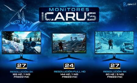 Los últimos monitores gaming de Icarus llegan al mercado presumiendo de especificaciones y precios asequibles