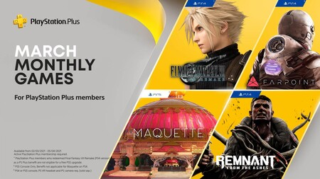 Final Fantasy VII Remake y Farpoint entre los juegazos de PlayStation Plus de marzo de 2021
