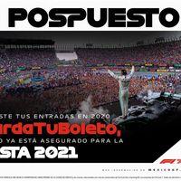 ¡No habrá Fórmula 1 en México este 2020! El Gran Premio de la Ciudad de México se pospone a 2021
