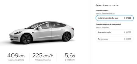 Tesla Model 3 Espana Octubre