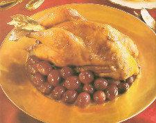 Pollo con uvas, simplemente exquisito