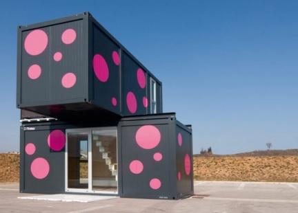 Casas poco convencionales: vivir en un bloque de contenedores