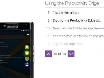 El año del Edge: la curva de la pantalla también tendrá funciones especiales en la BlackBerry Priv