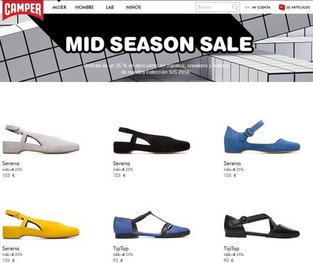 Mid Season Sale en Camper: 25% de descuento en cientos de zapatos para hombre, mujer y niño
