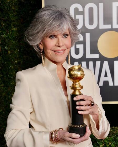 Jane Fonda Richard Tyler Vintage Golden Globes 2021