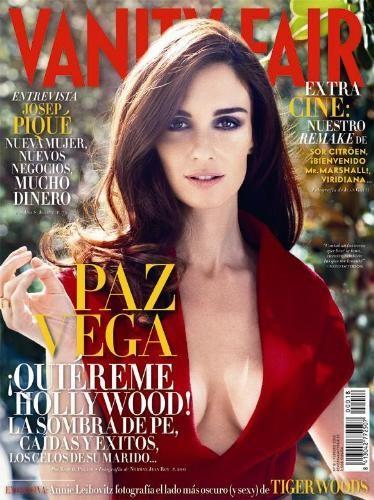 Paz Vega glamourosa en la portada de Vanity Fair