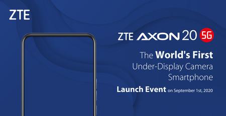 El ZTE Axon 20 5G estrenará las cámaras bajo la pantalla el próximo 1 de septiembre