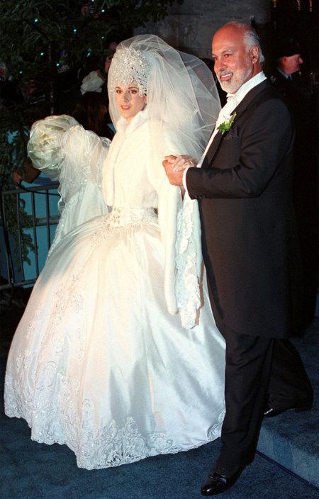 Celine Dion Rene Angelil 1994 Boda Vestido Novia