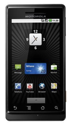 Motorola Milestone, Android en una gran pantalla