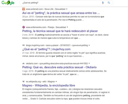 Petting Mas Busquedas Google