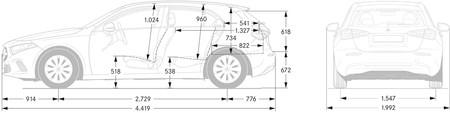 Mercedes Clase A 2018 Dimensiones