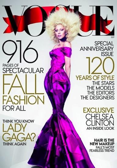 Lady Gaga protagoniza el September issue de Vogue y lanza su segunda imagen de su perfume