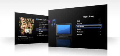 La nueva versión de FrontRow en Leopard tendrá un interfaz similar al del AppleTV