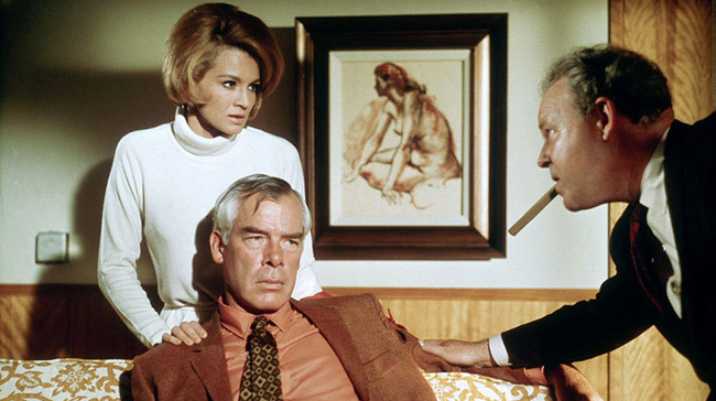Angie Dickinson, Lee Marvin y Carroll O'Connor en 'A quemarropa'