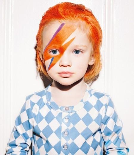 Once disfraces DIY para niños de David Bowie y otras estrellas del rock
