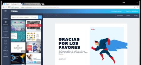 Crello es un editor de gráficos online especial para quien no sabe nada de diseño
