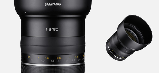 Samyang Product Photo Prm Lenses 85mm F1 2 Camera Lenses Banner 02 L