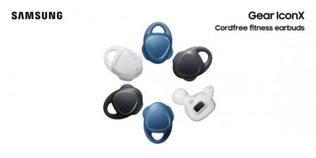 Samsung presentó los Gear IconX: unos audífonos diseñados para deportistas