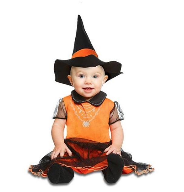 Disfraz Bebé - Brujita Naranja 12-24 meses