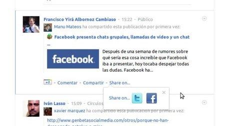 Extended Share, una extensión para compartir publicaciones en Facebook y Twitter