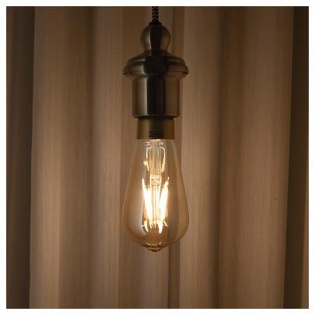 Lunnom Bombilla Led E27 400 Lumenes Regulacion Intensidad Luminosa Forma De Gota Vidrio Transparente Marron 0507530 Pe635147 S5