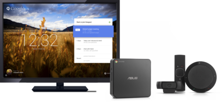 Google se saca de la manga un sistema para videoconferencias: Chromebox for meetings