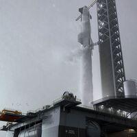 SpaceX y Elon Musk ya construyen su plataforma marítima de lanzamiento llamada 'Deimos': los cohetes despegarán a partir del próximo año