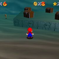 Super Mario 64: cómo conseguir la estrella Treasure in the Ocean Cave de Jolly Roger Bay
