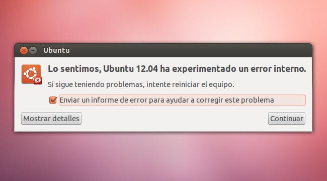 Error de Ubuntu 12.04