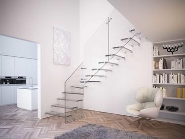 ¿Os atreveríais con una escalera de vidrio?