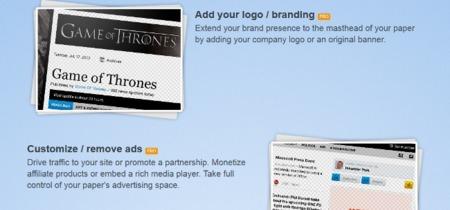 Paper.li saca una versión de pago que permite eliminar anuncios o poner los nuestros
