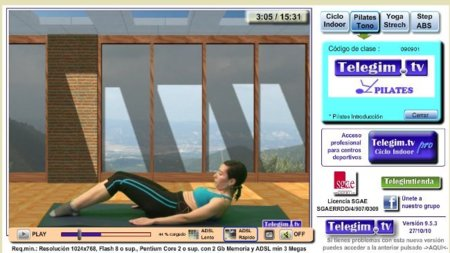 Telegim.tv: las clases del gimnasio en tu casa