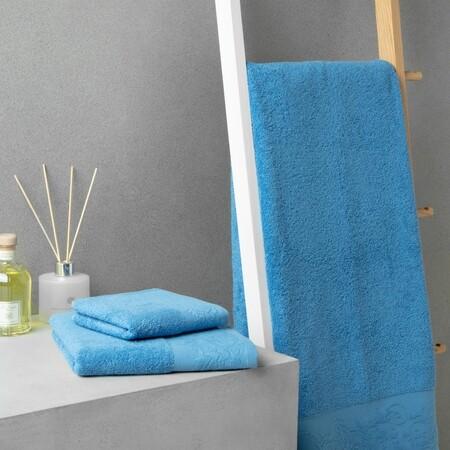 toalla azul