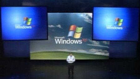 Bill Gates presentando Windows XP