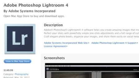 Adobe incluye su Lightroom 4 en la Mac App Store