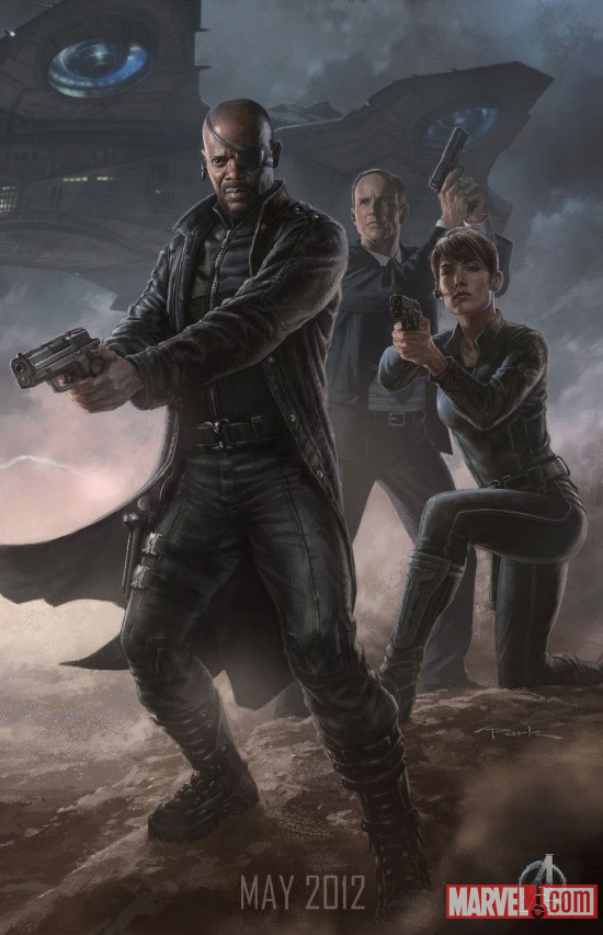 Foto de 'Los Vengadores' ('The Avengers'), teaser póster y dibujos oficiales de los protagonistas (4/9)