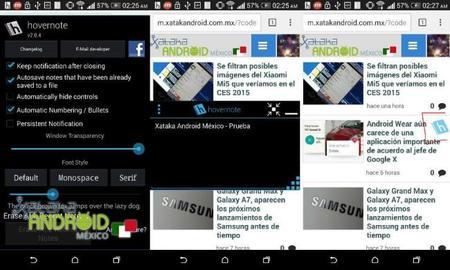 HoverNote, haz notas en cualquier parte de la pantalla de tu Android