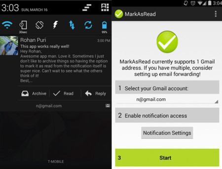 MarkAsRead, posiblemente el complemento más útil para GMail en Android